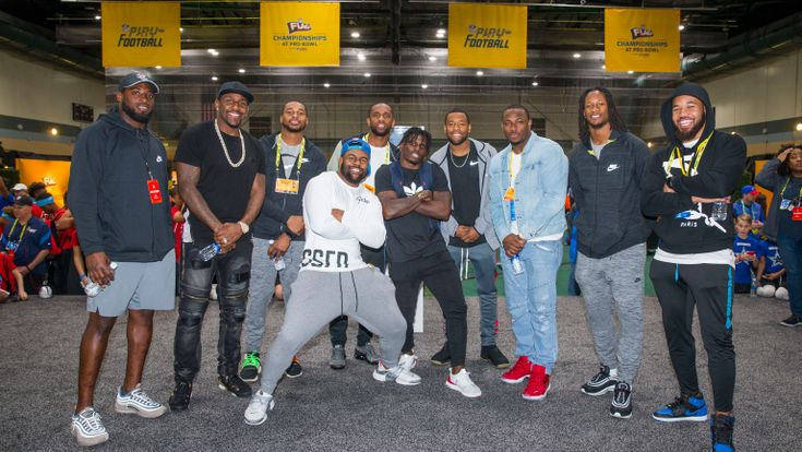 2018 Pro Bowl players at NFL FLAG red carpet event