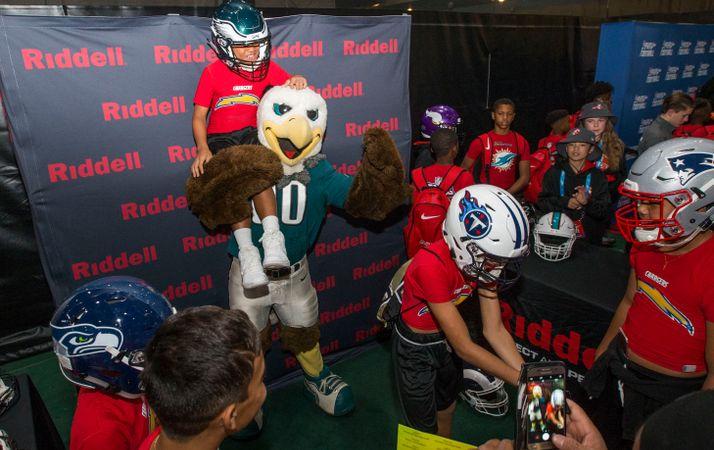 Riddell station at 2018 NFL FLAG red carpet event