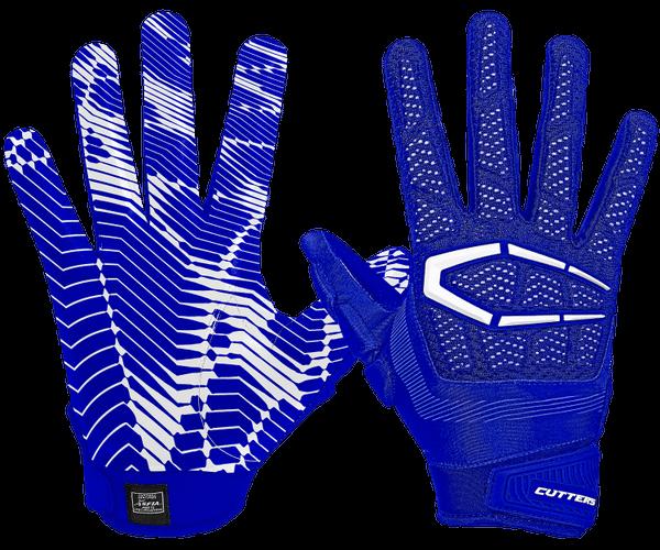 Cutters blue Gamer football gloves