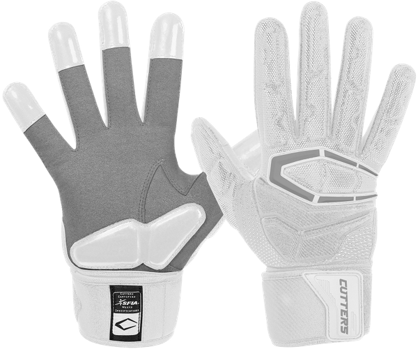 Cutters white Force football gloves