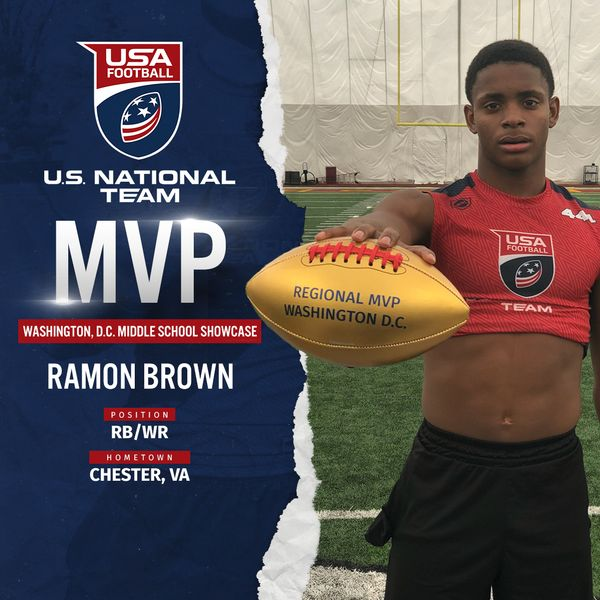 USA Football Washington D.C. regional MVP Ramon Brown