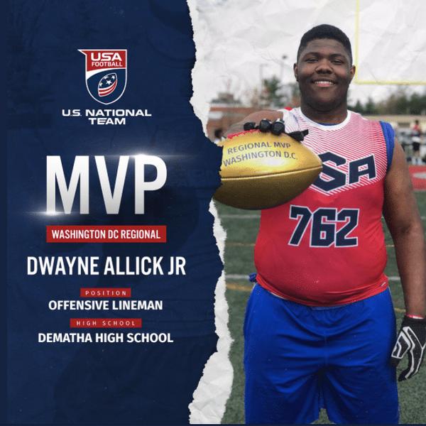 Dwayne Allick Jr. US National Team Washington DC regional MVP