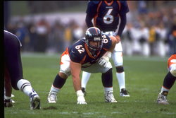 Dan Neil playing for the Broncos