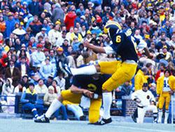 Haji-Sheikh kicking for Michigan.