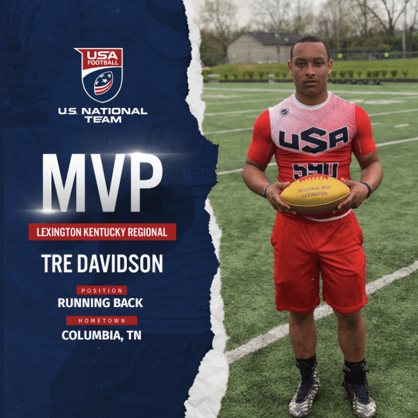 Tre Davidson US National Team MVP at Lexington, Kentucky regional