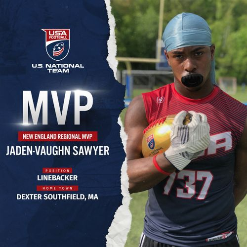 USA Football New England regional MVP Jaden-Vaughn Sawyer
