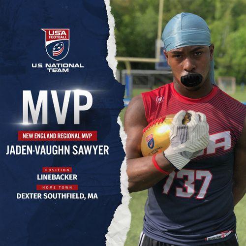 USA Football New England regional MVP Jaden-Vaughn Sawyer