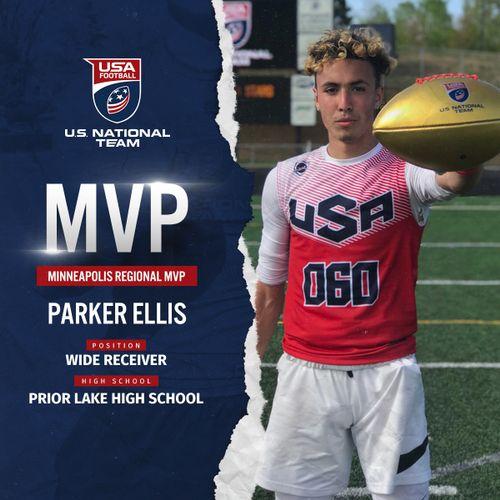 Parker Ellis USA Football Minneapolis regional MVP