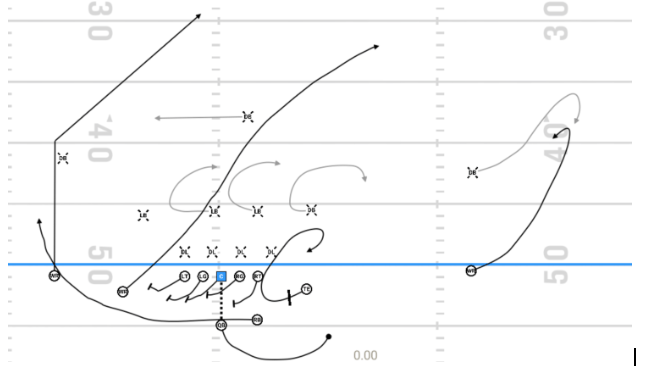 Oklahoma football pass play