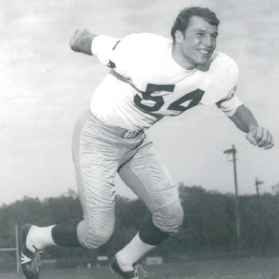 Oriard playing for Notre Dame