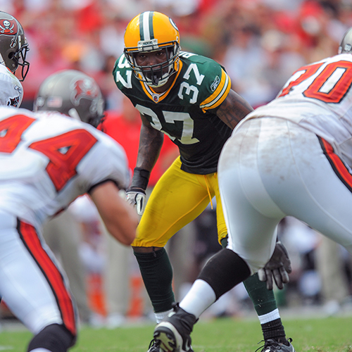 Rouse on Field for Packers