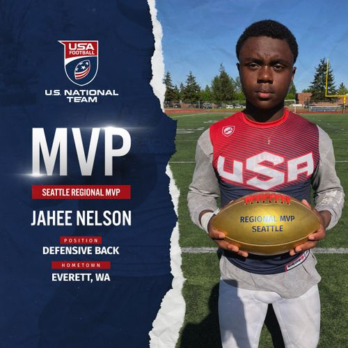 Jahee Nelson USA Football Seattle regional MVP