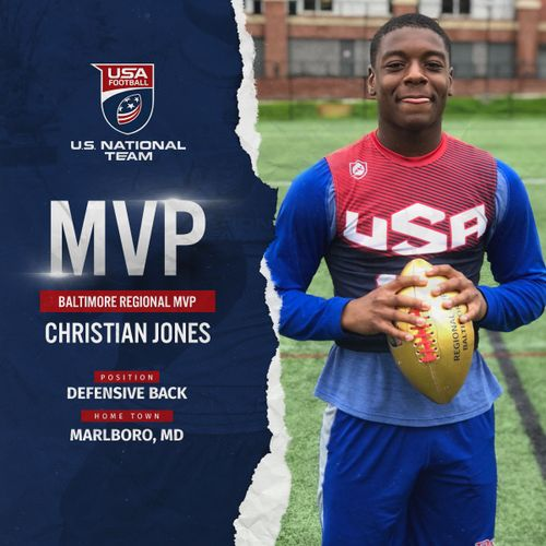 Baltimore USA Football regional MVP Christian Jones