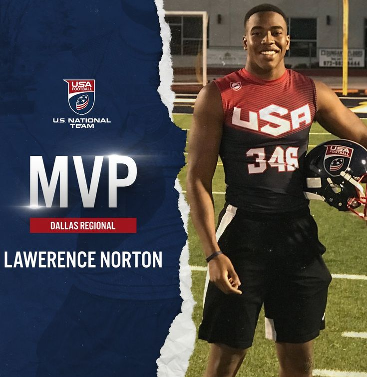 Dallas USA Football regional MVP Lawerence Norton