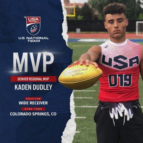 USA Football Denver regional MVP Kaden Dudley