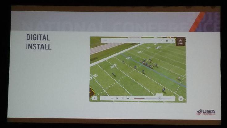 Digital football installation USA Football