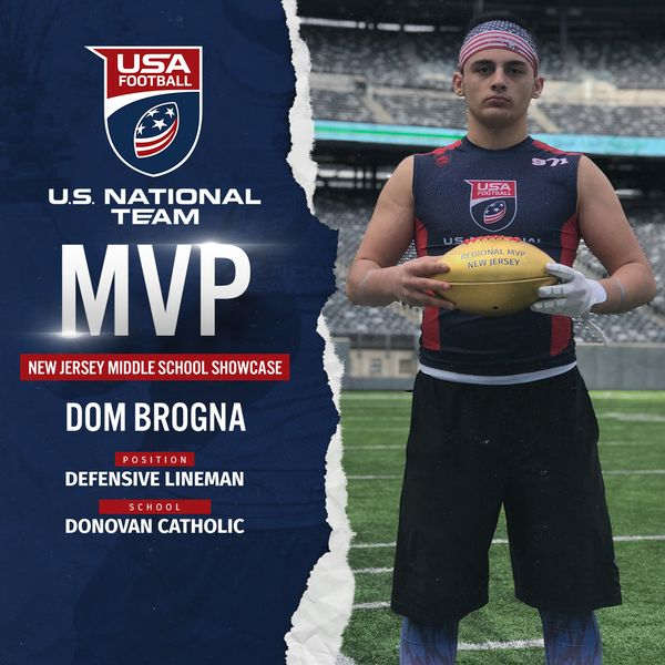 USA Football regional MVP Dom Brogna