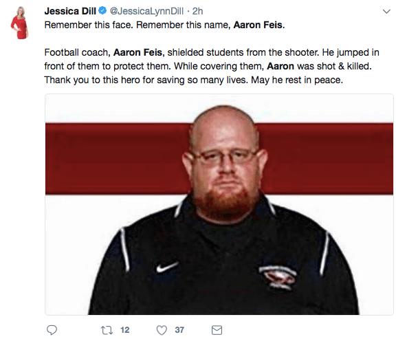 Jessica Dill shooting tweet