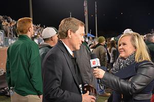 Steinbrecher being interviewed by ESPN