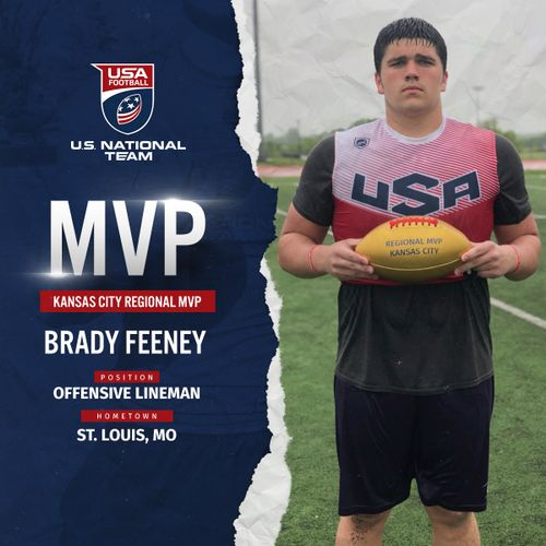 USA Football Kansas City regional MVP Brady Feeney