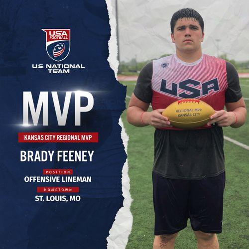 USA Football Kansas City regional MVP Brady Feeney