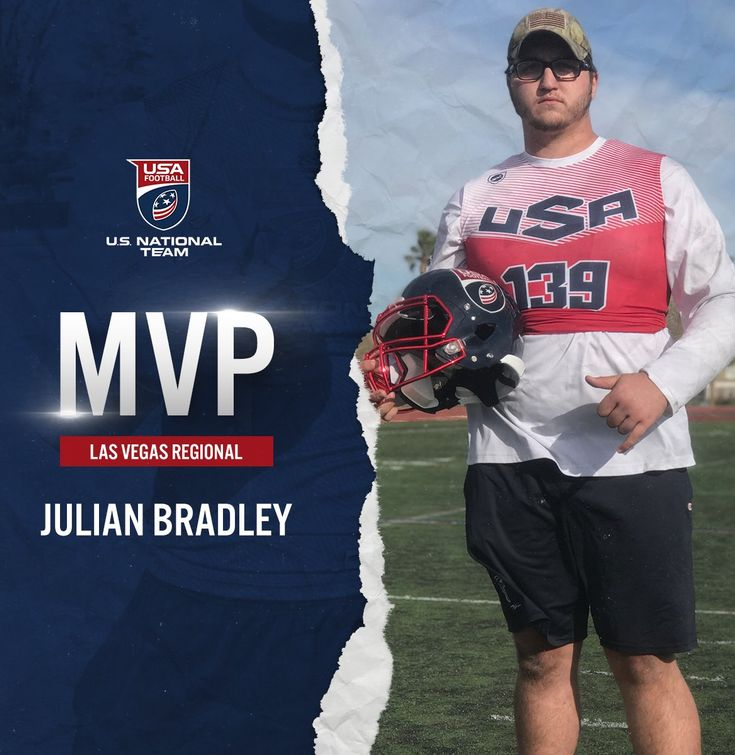 Las Vegas USA Football Regional MVP Julian Bradley