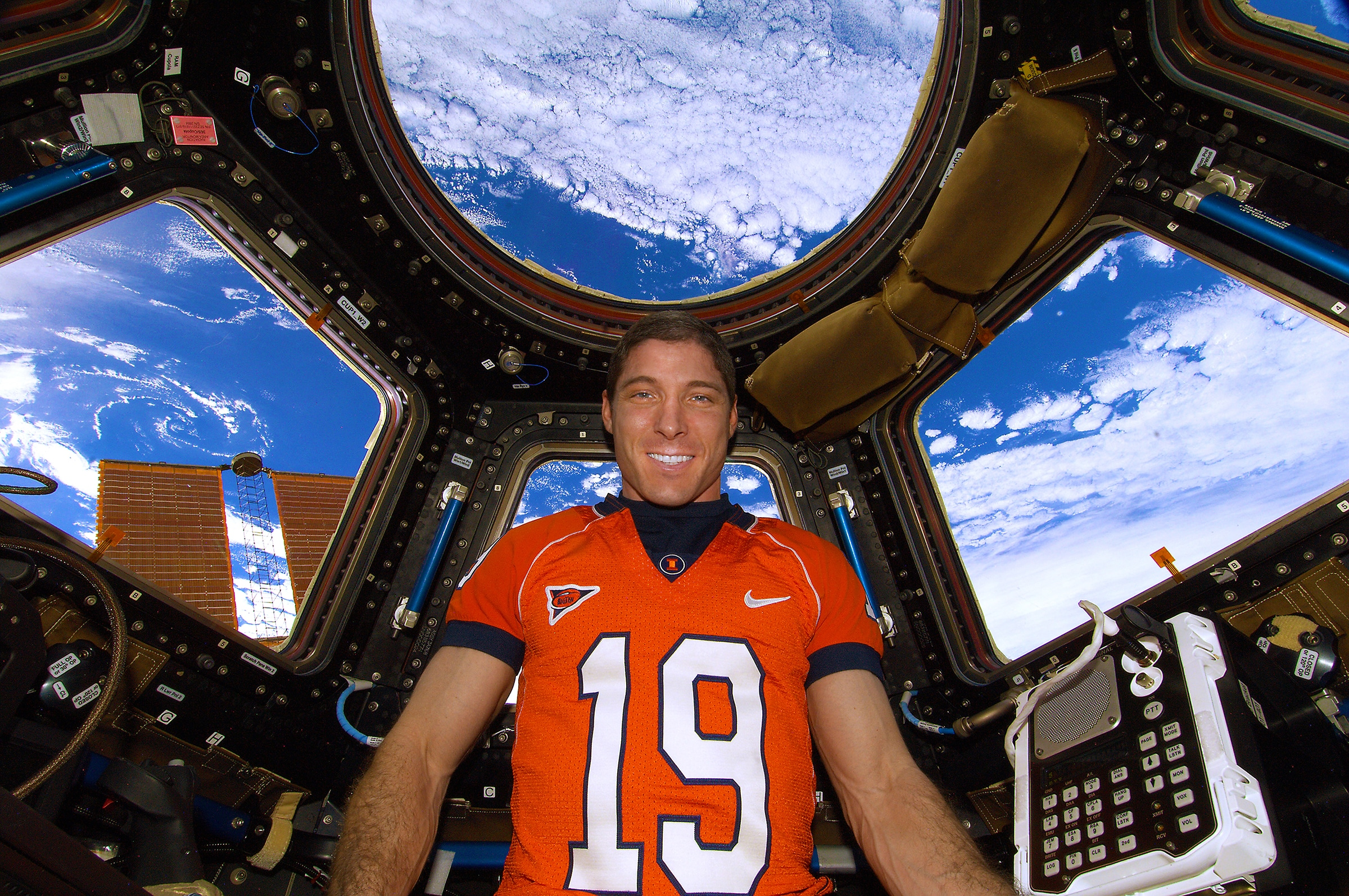 Mike Hopins in spaceship