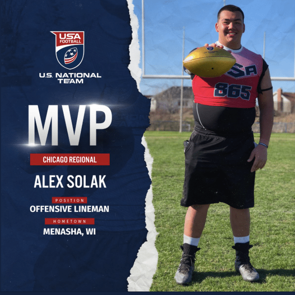 USA Football Chicago regional MVP Alex Solak
