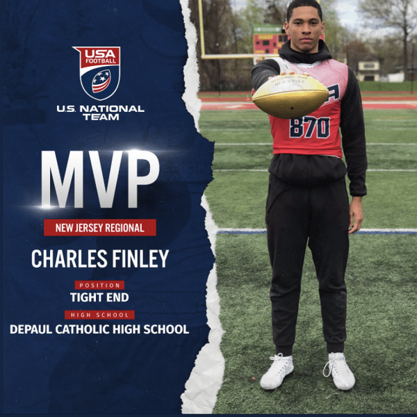 USA Football New Jersey regional MVP Charles Finley