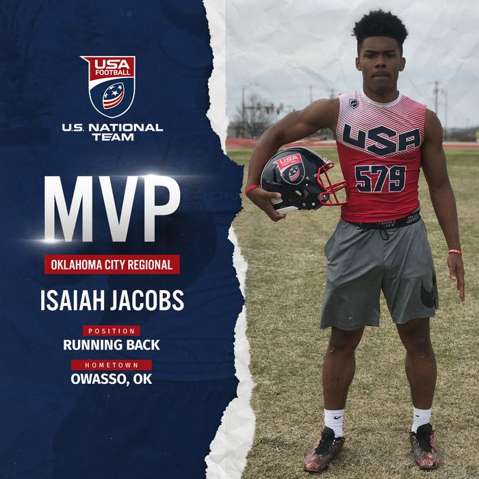 USA Football Oklahoma City regional MVP Isaiah Jacobs