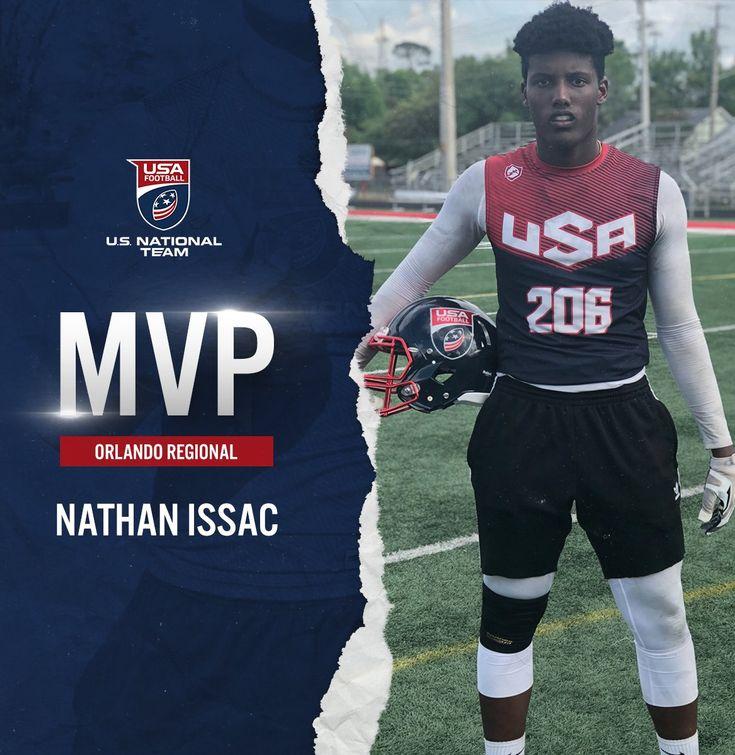 Orlando USA Football Regional MVP Nathan Issac