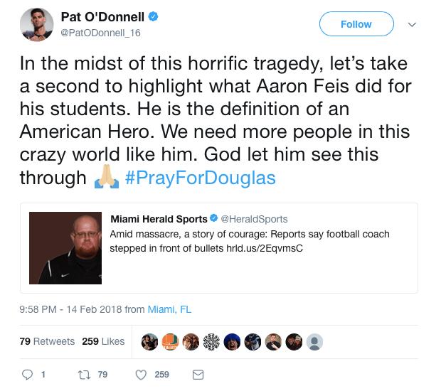 Pat O'Donnel shooting tweet
