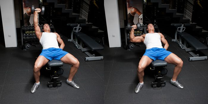 One-arm dumbbell press